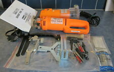 "Chicago Electric 1/4"" Trimmer Router 44914 & Cutout Tool AC-42831 w/ Extra Parts"