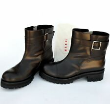 MARNI New sz 38 - 8 Authentic Designer Womens Ankle Shoes Boots brown