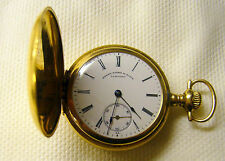 1909 14K Solid Gold Henry Birk's St James 15j Ladies Longines Pocket Watch