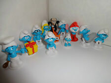 THE SMURFS CAKE TOPPERS 12 PLASTIC FIGURES AND FREE GIFT BN FREE P+P