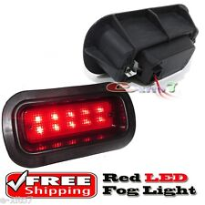 Acura Civic CRX Prelude JDM/Edm Rear Bumper Fog Brake Light Lamp LED Red Lens