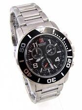 Swiss Military Hanowa 06-5262.04.007.07 checkerboard señores reloj Chrono acero inoxidable