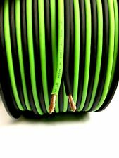 200 ft 10 Gauge GREEN/BLACK AWG w/ Roll Sky High Car Audio Speaker Wire Home