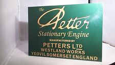 Vintage Petter stationary engine display board. Rally sign. generic sign