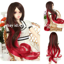 Long hair reddish brown mixed color   For 1/3 BJD LUTS PULLIP SD Doll Wig