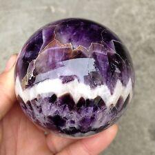 384g Natural dream amethyst crystal ball orb gem stone B83
