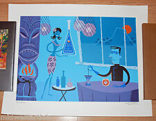 Josh Agle SHAG Mr. Blue Tiki Drink Art Print Poster S/# 200 17 Color Serigraph
