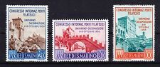 SAN MARINO 1956 - SC# 386 - 388 MINT NEVER HINGED Int. Philatelic Congress
