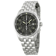 Victorinox Airboss Automatic Chronograph Black Dial Stainless Steel Mens Watch