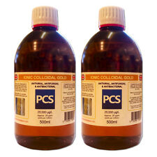 2 x Colloidal Gold 25ppm - 500ml [2 For 1 Deal] - Includes 1st Class P&P!