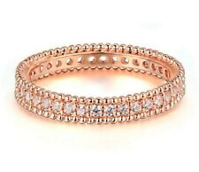 18K ROSE GOLD PLATED AUSTRIAN CRYSTAL ENGAGEMENT RING SIZE: M, O