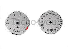 Bmw de tacómetro para 1er e81 e82 e87 e88 300 sets multaránpor km/h m1 carbon nr 100