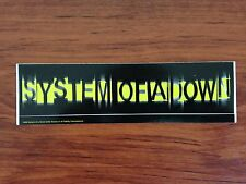 SYSTEM OF A DOWN - LOGO - STICKER/DECAL - BRAND NEW VINTAGE - MUSIC BAND 118