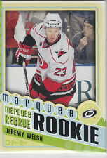 Jeremy Welsh RC 2012-13 O-pee-chee MARQUEE ROOKIE #560 Carolina Hurricanes