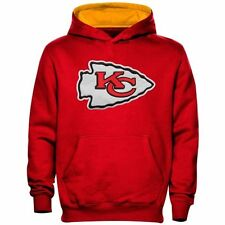 Kansas City Chiefs Youth NFL Primary Logo Pullover Hooded Sweatshirt M