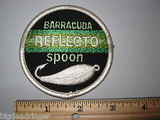 Barracuda REFLECTO SPOON Fishing Patch Vintage Advertisement Lure Florida Tackle