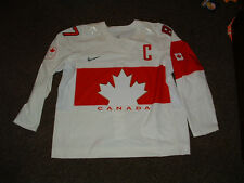 SIDNEY CROSBY #87 TEAM CANADA 2014 SOCCHI WHITE AUTHENTIC HOCKEY JERSEY sz 58
