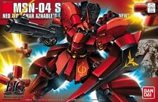 BANDAI HGUC 1/144 MSN-04 SAZABI METALLIC COATING Ver Plastic Model Kit Japan