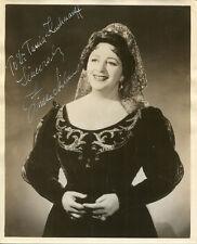 Opera Singer Zinka Milanov Signed Photograph