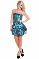 Forever Unique Felix Bandeau Party Dress - Green - Size UK 10