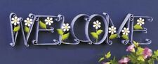 """BLOOMING """"WELCOME"""" SIGN HOME DECOR new in box PURPLE sale INTERIOR See Pics"""