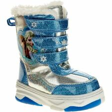 DISNEY FROZEN ELSA & ANNA TODDLER GIRLS SIZE 10 SOFT WINTER SNOW BOOT NEW w/ TAG