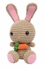 Cream Bunnies Handmade Amigurumi Stuffed Toy Knit Crochet Doll VAC