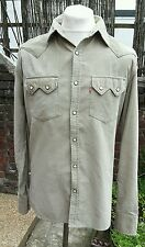Levi Strauss & Co Red Tab dente Pearl Pop Stud Camicia in velluto a coste-Medium