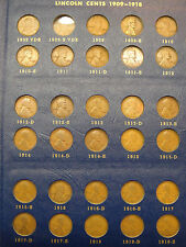 Lincoln Cent Set Near Complete 1909-40(missing 09-S VDB & 22p) has 1914-D 1931-S