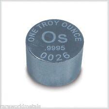 Osmium precious metal ingot - Rare World Metals Mint - 1 troy oz - .9995 bullion