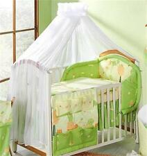 CROWN CANOPY / MOSQUITO NET WITH ROSE FOR BABY COT/COT BED - WHITE ROSE