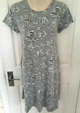 UNI QLO CABBAGES & ROSES STUNNING YACHT PRINT COTTON BLEND DRESS SZ M WORN ONCE