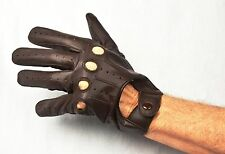 Men Genuine Leather Driving Gloves with Free shipping