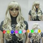 Fashion Sexy Ladies Blonde Long Cosplay Party Curly Wigs/Free Wig Cap