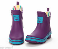 Evercreatures Ladies Ankle Wellies Welly Boots Rubber Festival Wellington Boots