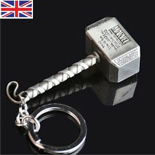 Marvel The Avengers Thor Thor's Hammer Mjolnir Pewter Metal Keyring Key Chain SK