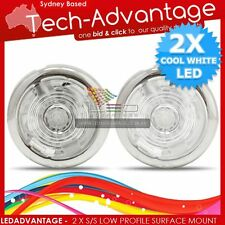 2 X 12V STAINLESS STEEL WHITE LED WATERPROOF ANCHOR WELL CUPBOARD LOCKER LIGHTS