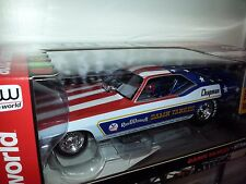 1/18  AUTO WORLD LEGENDS DAMN YANKEE 1972 PLYMOUTH CUDA FUNNY CAR RED/WHITE  gd