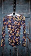 Women's Sweet Pea by Stacy frati Floral Mesh Stretch Knit top Long Sleeve S