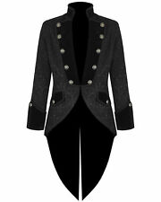 Men's Velvet Brocade VLADIMIR TUXEDO Jacket Tail coat Goth Steampunk Victorian