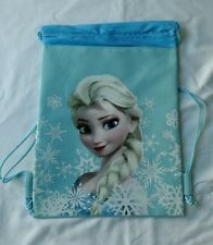 Light Blue Disney Frozen Elsa Drawstring Backpack Child School Sling Gym Bag ��