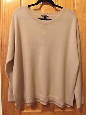 $378 NWT EILEEN FISHER DUNE CASHMERE ROUNDNECK BOXY TOP SWEATER 3X
