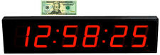 "LARGE 4"" LED COUNT DOWN/UP/INTERVAL TIMER/STOPWATCH REMOTE CONTROL CLOCK"