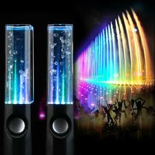 Black Music Water Fountain Speaker Dancing LED Light PC Laptop iPhone iPad4 iPod