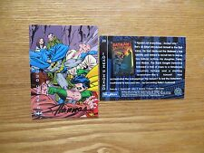 1994 BATMAN SAGA OF THE DARK KNIGHT RA'S AL GHUL CARD SIGNED SCOTT HANNA, POA