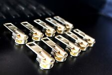 10 Sliders Pulls ~ YKK  Brass Metal Slider size #10  zipper pull