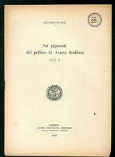 SPADA ALBERTO SUI PIGMENTI DEL POLLINE DI ACACIA DEALBATA 1953 FLORICOLTURA