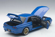 Autoart NISSAN SKYLINE GT-R R32 V-SPEC II TUNED VERSION BLUE LE of 1500 1/18 New