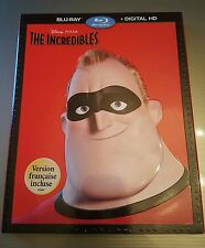 The Incredibles (Blu-ray + Digital Copy) BRAND NEW!! PIXAR!! W/ SLIPCOVER!!
