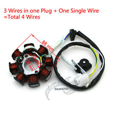 DC Magneto Stator 8 Coil Poles 4 Wire For Chinese GY6 50cc Engine Moped Scooter